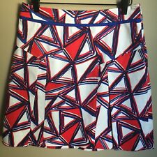 ETCETERA Red Summer Asymmetrical Design Skirt, size 4