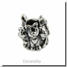Authentic Trollbeads Sterling Silver 11354 Family of Kittens :1