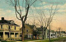 Iowa, IA, Newton, Olive Street Early Postcard