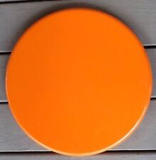 Waffle House Metal Top Bar Seat Top Only Orange Round Chair Stool Part - Used