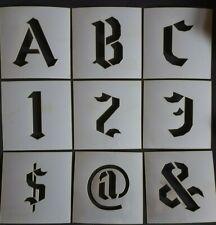 BIG Alphabet Stencil Upper Case Gothic Font Letters / Numbers separate stencils