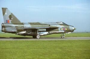 Original  colour slide   Lightning F.6  XS927/H  11 Sqn  1979