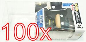 "100 X Xullu Klarsicht Schutz Hülle für 4"" Funko POP! Figuren OVP 0,35 mm PET"