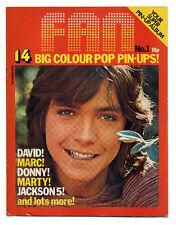 FAN Magazine No 1 Oct 1972 David Cassidy Donny Osmond Michael Jackson Marc Bolan