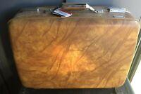 NICE Vintage American Tourist Brown Hard Case Unused MINTY Suitcase W/tags Rare