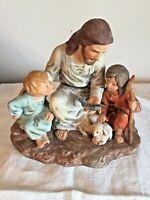 "VTG Masterpiece Porcelain ""THE FISHERMAN"" Figurine JESUS/KIDS by HOMCO *1983 EUC"