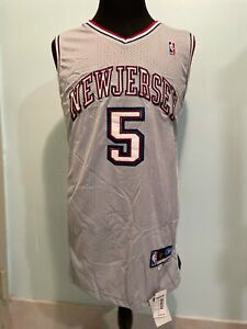 Mens New Jersey Jason Kidd #5 Basketball Jersey Gray