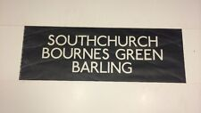 "Southend 70's Bus Blind 29""- Southchurch Bournes Green Barling"