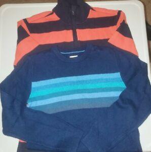 Boys Gap Kids Size  Large (10) Striped lot of 2 blue orange vguc