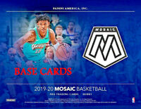 2019-20 Panini Mosaic Basketball Base Cards - YOU PICK - COMPLETE YOUR SET