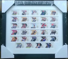 LONDON 2012 OLYMPIC GAMES TEAM GB 29 ROYAL MAIL GOLD MEDAL WINNERS STAMPS FRAMED