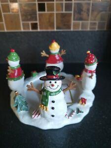 Yankee Candle Christmas Happy Snowmen Jar Hugger / Holder VHTF
