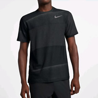 Nike Breathe Mens Short Sleeve Training Top Shirt Black Size 2XL XXL 890440-010