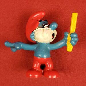 Vintage Peyo Schleich Papa Smurf Teacher Figure