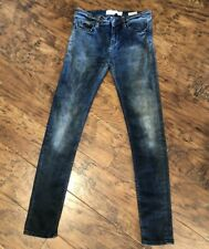 $212 IRO Jeans Rosy - Mid Rise Skinny Super stretch jeans Dirty Oil Blue Wash 28