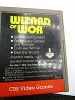 VINTAGE WIZARD OF WOR CBS VIDEO GAMES ATARI 2600 VIDEO GAME CARTRIDGE