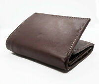 RFID Blocking Brown Handcrafted Cowhide Leather Men's Trifold Premium Wallet
