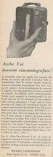 Z3241 ZEISS Ikon KINAMO S. 10 con Obbiettivo Tessar 1:2,7 - Pubblicità - 1929 Ad