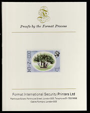Dominica (405) 1975 Screw Pine 10c imperf on Format International PROOF  CARD