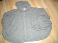 Ladies Brora Hooded Cashmere Poncho One Size