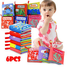 6Pcs Cloth Books Baby Non-Toxic Soft Clothing Book Educational Toy Baby Book Set