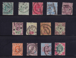 Great Britain Selection of Edward Vll Stamps