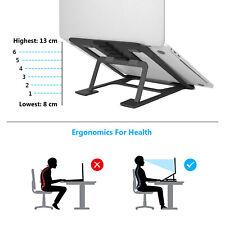SAVFY Foldable Laptop Stand Adjustable Aluminum Desk Holder for MacBook Pro Air