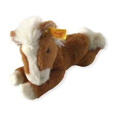 Steiff Pferd Pony 280108 ca. 27 cm länge mit Fahne liegend ST8
