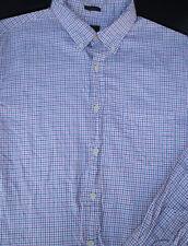 J Crew Mens Button Front Long Sleeve Cotton Plaid Shirt Large L