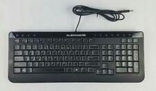 Dell Alienware Multimedia Slim Black Ergonomic Wired USB Keyboard SK-8165 EUC