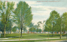 HAMILTON PARK, OGDENSBURG, N.Y. NEW YORK. HOUSES IN BACKGROUND.CITY IS BROKE!!