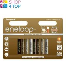 8 PANASONIC ENELOOP TONES EARTH RECHARGEABLE AAA HR03 BATTERIES BLISTER 1.2V