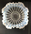 Opalescent Glass Bowl Crimped