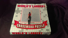 NEW World Largest Crossword Puzzle Hangs On Wall 42 1/4 Square Foot Puzzle Grid
