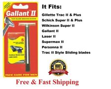 Gallant Razor fit Gillette Trac II Plus Schick Super Refill Blade Shaver Handle