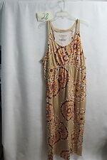New  Cacique Orange Multi-Color Long Maxi Nightgown Size 18/20
