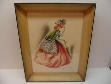 Labelle Francine Rudolf Lesch Fine Arts Vintage Women Red Dress