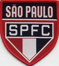 Sao Paulo SPFC Retro 80's / 90's Football Badge Patch 6.8cm x 7.6cm