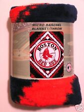 ** NEW ** BOSTON RED SOX MICRO RASCHEL BLANKET / THROW