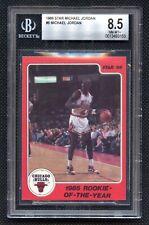 1986 Star Michael Jordan 1985 Rookie Of The Year #6 BGS 8.5 NM-MT+