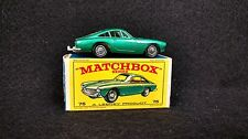 Vintage Matchbox #75 No. 75 Ferrari Berlinetta grey base w box