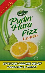 Dabur Pudin Hara Lemon Fizz Herbal Remedies Resins 30g(Pack Of 10)