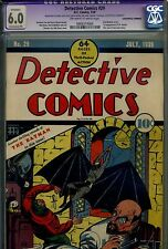 DETECTIVE COMICS# 29 CGC 6.0 E.P. 2nd Batman Cover