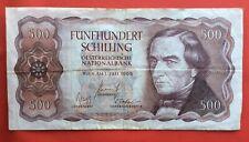 Autriche - Austria - Très Joli billet de 500 Schilling  1965