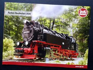 "LGB Prospekt ""Herbst-Neuheiten 2020"", 8 Seiten, Neu!"