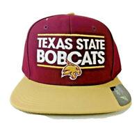 Texas State Bobcats Snapback Flat Brim Cap Hat NCAA  Adult Adidas Dassler NEW