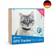 Tractive Katzen GPS Tracker mit Sicherheitverschluss - Schwarz (TRCAT1)