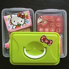 Stamp /Wallet /Lunch Bag /Nail sticker /Mirror All In Hello Kitty Green Gift Box