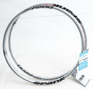 "2qty Spank Oozy 260 Trail 27.5"" 650B 28h Hole Silver MTB Bike Wheel Rims NEW"