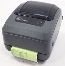 Zebra GK420d Direct Thermal Barcode Label Receipt Printer inc Power Adaptor